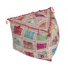 Indian Triangular Pouffe Cover