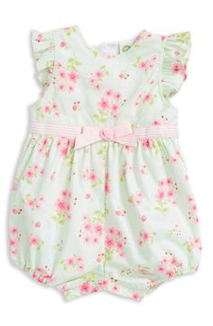9b544245db3 Little Me Floral Print Romper (Baby Girls) available at  Nordstrom Baby  Girl Romper