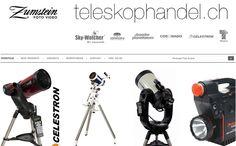 Teleskophandel.ch wurde als OSCommerce Shop erstellt mit diversen individuellen Modifikationen ausgestattet. Innert wenigen Tagen Top Ergebnisse bei Google.