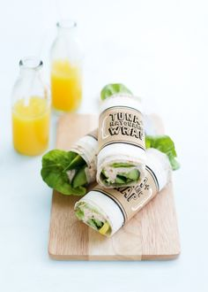 tuna wraps - Healthy recipes! Follow these and more fitness recipes at: hcgwarrior.com/recipes.html. Change your eating habits, change your life!