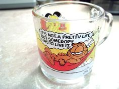 Garfield McDonalds Glass Mug 1978 Jim Davis Odie by LakesideHaven, $6.00 20% off with Coupon Code ChristmasInJuly
