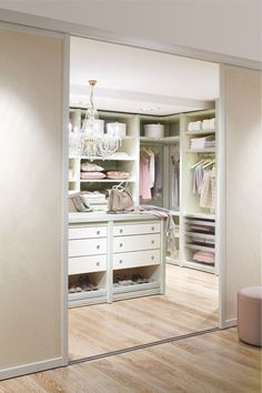 Ideas for our next home. 40 Pretty Feminine Walk-In Closet Design Ideas Dressing Room Closet, Wardrobe Closet, Master Closet, Closet Bedroom, Closet Space, Home Bedroom, Dressing Rooms, Bedrooms, Walk In Closet Design