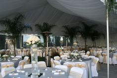 20'x20' White Poly Satin gathered tent liner