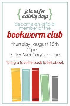 activity days: bookworm club