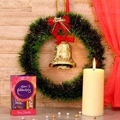 Send Santa Gifts Hamper Online with same day delivery in Ahmedabad from SendGifts Ahmedabad. Order Santa Gifts Hamper online and express your best feeling to your Special Person. Merry Christmas, Christmas Candles, Christmas Wreaths, Christmas Gifts, Xmas, Hampers Online, Gift Hampers, Santa Gifts, Navidad