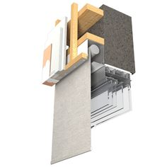 Blindspace Illustration Blind Concealed in Wall Ceiling Curtain Track, Ceiling Curtains, Design Your Dream House, House Design, Blinds And Curtains Living Room, Interior Architecture Drawing, Architecture Design, Cornice Design, Windows