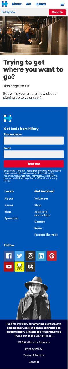 HillaryClinton.com SP 404