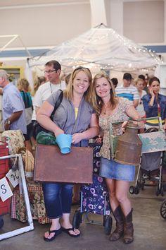 Coeur d'Alene, Idaho Kootenai County Fairgrounds Booth Display, Vintage, Happy Customers, Vendors. Junk Salvation