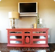 """I love """"Vintage Revivals"""" for great vintage furniture UpCycles. Here are the directions for her Upcycled Mirror Front Dresser Tutorial - Vintage Revivals Furniture Projects, Furniture Makeover, Diy Furniture, Diy Projects, Entry Furniture, Furniture Update, Furniture Cleaning, Furniture Dolly, Furniture Removal"""