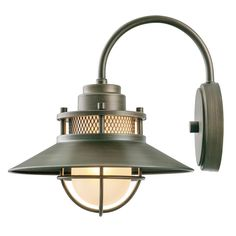 For exterior above entry - Globe Electric Liam Collection 1-Light Bronze Outdoor Wall Sconce with Frosted White Glass-44097 - The Home Depot