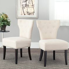 Safavieh Scarlett Wheat Dining Side Chairs - Set of 2 - MCR4707A-SET2