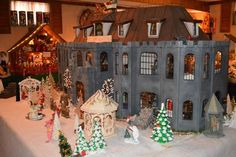 Found on EstateSales.NET: Höllenbrauch Castle Dollhouse features 10 rooms of highly collectible miniatures in excellent condition!!!