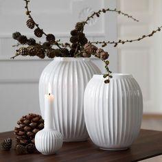 Buy Kähler - Hammershøi Vase Medium - White (15380) - Free shipping