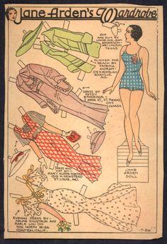 7-29-34 Jane Arden paper doll / eBay