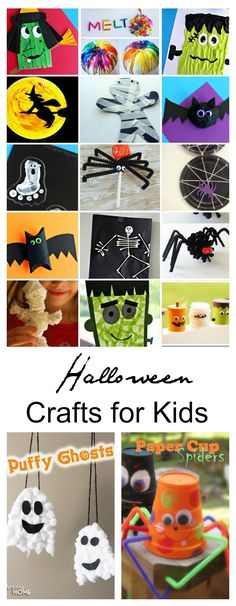 Today, I have collected some simple Halloween Crafts for Kids that can be made at a school classroom party, Halloween party, or made for decoration.