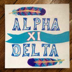 Sorority big little craft Alpha Xi Delta