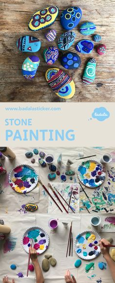 For rainy days: collect stones and paint – your kids will love it. You just need acrylic colours and an brush. Paint one color at the stones with a broad brush then start with the fine brush to apply different patterns - stripes, spots, spirals, circles, dots. we all really enjoyed this time. DIY, paint, acrylic painting, collecting stones, hunters and collectors, imagination, elexion, walk, rain, Steine sammeln, Jäger und Sammler, Spazieregang, Malen, entspannen mit Kindern