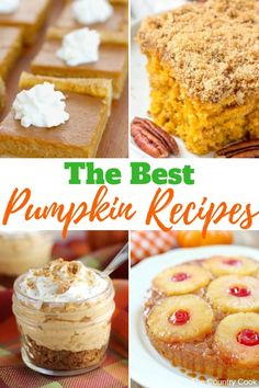 All the best pumpkin recipes! From the pumkin drinks all the way to desserts, th… All the best pumpkin recipes! Pumpkin Drinks, Pumpkin Dessert, Pumpkin Recipes, Fall Recipes, Holiday Recipes, Holiday Foods, Holiday Desserts, Best Pumpkin, Baked Pumpkin