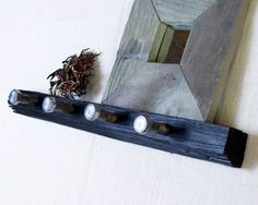 Vineyard Wall Hooks & Shelf with Upcycled Industrial by AnotherCup, $44.00