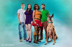 Mystery Inc. / The Scooby gang - Scooby Doo re-imagined by Jeff Zoet Visuals
