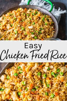 This easy chicken fried rice recipe is loaded with veggies. Better than takeout,… This easy chicken fried rice recipe is loaded with veggies. Better than takeout,…,Dinner Bell This easy chicken fried rice recipe is. Chicken Fried Rice Recipe Easy, Easy Rice Recipes, Easy Chicken Recipes, Easy Fried Rice, Healthy Fried Rice, Veggie Fried Rice, Recipes With Ground Chicken, Cooked Chicken Recipes Leftovers, Homemade Chicken Fried Rice