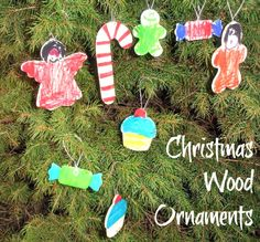 Wood Ornaments Coloured with Sharpies