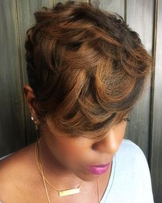 Every lady needs to look good in her hair so you can choose from these ones and see how beautiful you will look. Short Sassy Hair, Short Hair Cuts, Short Hair Styles, Short Pixie, Pixie Cuts, Love Hair, Great Hair, Short Black Hairstyles, Bob Hairstyles