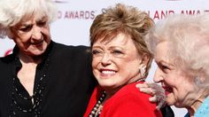 Actresses Beatrice Arthur, left, Rue McClanahan, center, and Betty White arrive at the TV Land Awards on Sunday June 8, 2008 in Santa Monica, Calif.