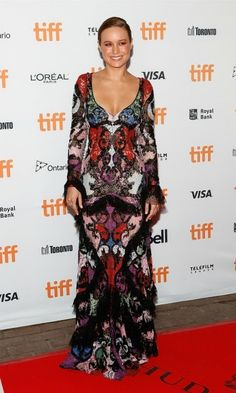Brie Larson added a little shine to her stunning gown with Tiffany & Co jewelry during the premiere of Free Fire at the Toronto Film Festival.
