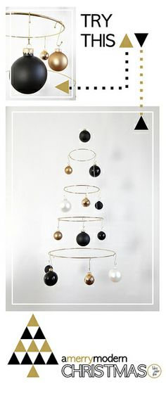 I was wondering what my options were for a tree alternative - this is PERFECT! Merry Modern Xmas Tree Tutorial by fabricpaperglue, via Flickr