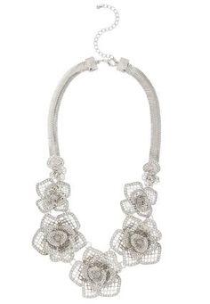 Cato Fashions Mesh Rose Necklace #CatoFashions