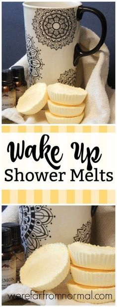 An uplifting combination of essential oils will help you get up and moving in the morning. These are easy to make and wonderful to use! #essentialoils #energy #bathbombs