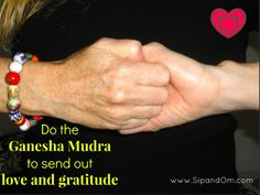 Are your relationships hurting you? Do this mudra to send out love and gratitude to protect your health. Find the meditation and how to do the mudra at www.SipandOm.com.