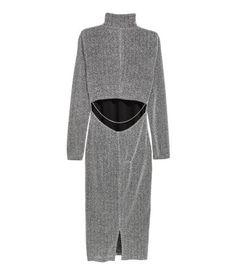 Kjole med halvpolo | Sølv/Glitrende | Dame | H&M NO