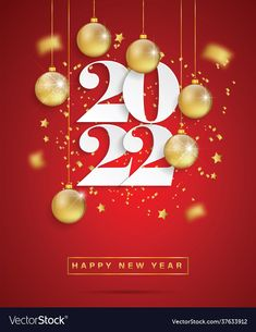 New Year Background Images, Red Background, Happy New Year Pictures, Happy New Year Wallpaper, New Year Illustration, Happy Birthday Wishes Cards, Advent, Christmas Decorations, Christmas Ornaments