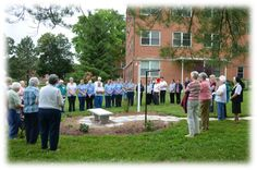 Dedication of Peace Pole at Sancta Maria in Ripa in St. Louis #peacepole http://www.ssndcentralpacific.org/Experience/Peace-Pole-Dedicated-at-Sancta-Maria-in-Ripa