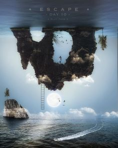 Escape. Surreal and Fantasy Photo Manipulations. By Plat Ykor.