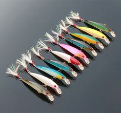 10PCS Quality Fishing Lure Minnow Plastic Isca Artificial Fish Sea Hooks Hard Bait for Fishing