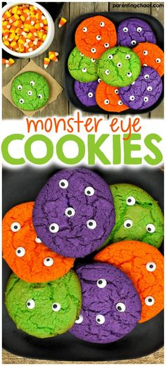 Monster Eye Cookies For any little cookie monster out there, this is a perfect easy Halloween recipe for kids.For any little cookie monster out there, this is a perfect easy Halloween recipe for kids. Halloween Tags, Yeux Halloween, Halloween Goodies, Holidays Halloween, Vintage Halloween, Halloween Eyeballs, Halloween Stuff, Halloween Makeup, Hallowen Food