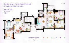 Gallery of From Friends to Frasier: 13 Famous TV Shows Rendered in Plan - 1