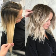 #MAKEOVERMONDAY! ... by @hairby_chrissy #btchairby_chrissy ・・・ Before & After | weaved babylight highs and lows to break up chunky & brassy highlights. Colored inbetweenfoiks with 7n @goldwellus colorance and feathered down to break up the harsh line . At bowl used 7n on base , 9n 9nb @redken shades in mids & @goldwellus 10 p colorrance on ends | #makeovermonday #transformationtuesday #blonde #colorcorrection #hairstylist #hairsalon #hairdresser #beforeandafter #transformation #btcgol...