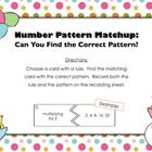 This 7-page activity is a fun way for your students to practice number patterns and rules that create them.  This center is set up in a puzzle form...