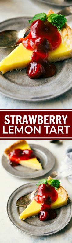 BLENDER STRAWBERRY TART! The best thick crust loaded with a custard-like…