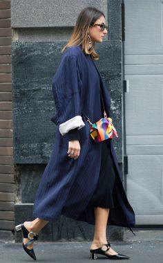 Milan Fashion Week street style: Loewe elephant handbag