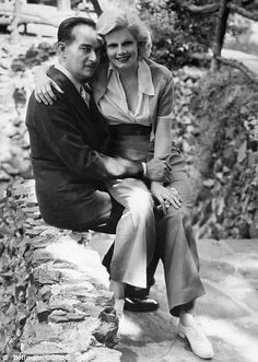 Bugsy Segal and Jean Harlow (via divinemarilyn.canalblog.com)