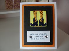 Halloween card using SU stamps and dies