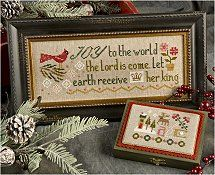 From Lizzie Kate, this new cross stitch kit includes the 30 ct linen, charms and cross stitch pattern. Just in time to stitch for Christmas giving or decorating.