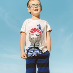 Aye Aye Captain Graphic Tee | Say ahoy to this pirate pal. He's ready to be first mate on whatever adventures your little citizen has in mind.
