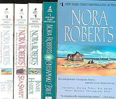 @Overstock - #1 New York Times bestselling author Nora Roberts presents her breathtaking Chesapeake Series--SEA SWEPT, RISING TIDES, INNER HARBOR, and CHESAPEAKE BLUE presented together in one set for the first tihttp://www.overstock.com/Books-Movies-Music-Games/Sea-Swept-Rising-Tides-Inner-Harbor-Chesapeake-Blue-Paperback/2360962/product.html?CID=214117 $19.99