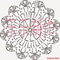 Captivating Crochet a Bodycon Dress Top Ideas. Dazzling Crochet a Bodycon Dress Top Ideas. Crochet Diy, Mandala Au Crochet, Crochet Circles, Crochet Doily Patterns, Crochet Diagram, Crochet Round, Crochet Chart, Crochet Home, Crochet Doilies